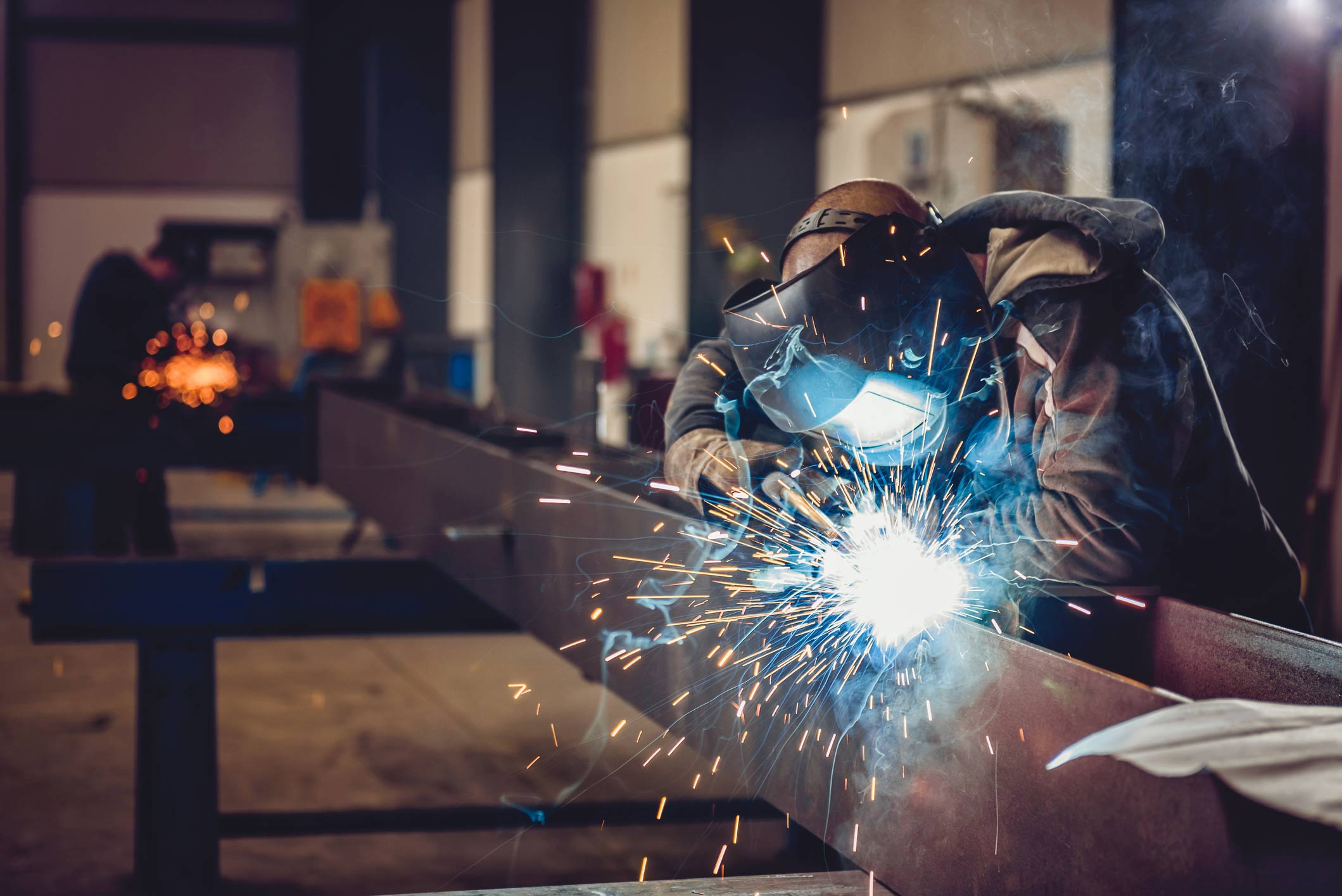This is a photo of a welder at work