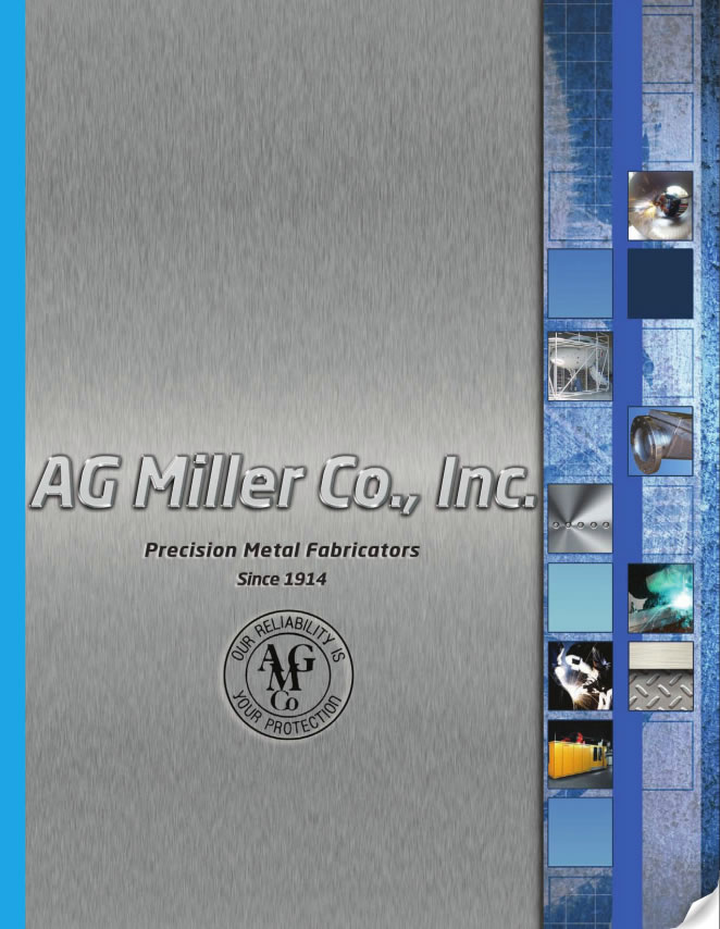 This is a photo of an AG Miller logo on a brochure