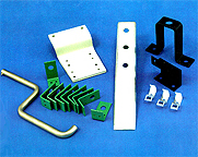This is a photo of custom hardware fittings designed by AG Miller Co.
