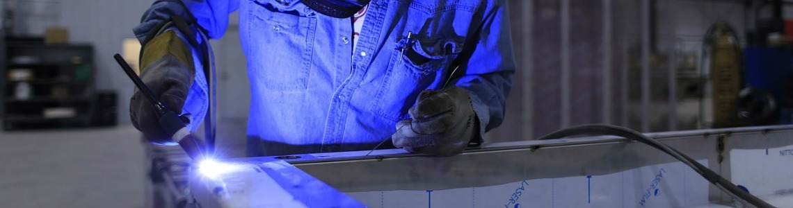This is a photo of a welder working on a project